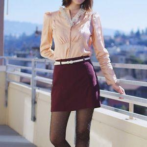 Express maroon skirt